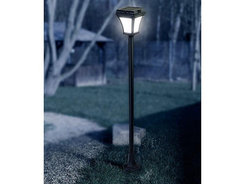Lunartec Gartenlaterne: Solar-LED-Wegeleuchte mit Bewegungssensor ...