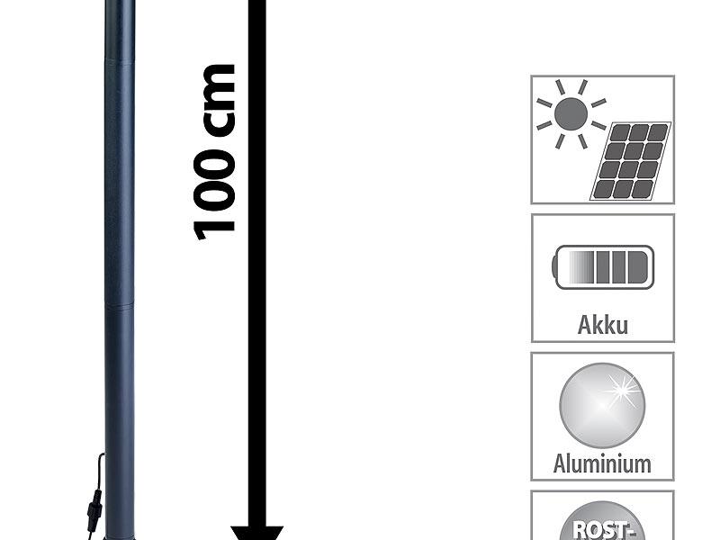 lunartec hybrid solar led wegeleuchte swl 30 mit optional. Black Bedroom Furniture Sets. Home Design Ideas