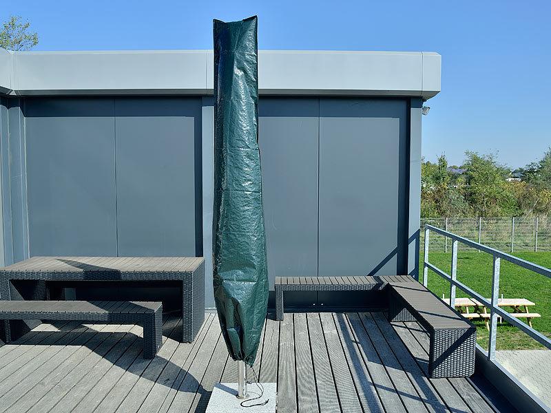 royal gardineer sonnenschirmabdeckung gewebe abdeckplane f r garten sonnenschirm 226 x 63 x 33. Black Bedroom Furniture Sets. Home Design Ideas