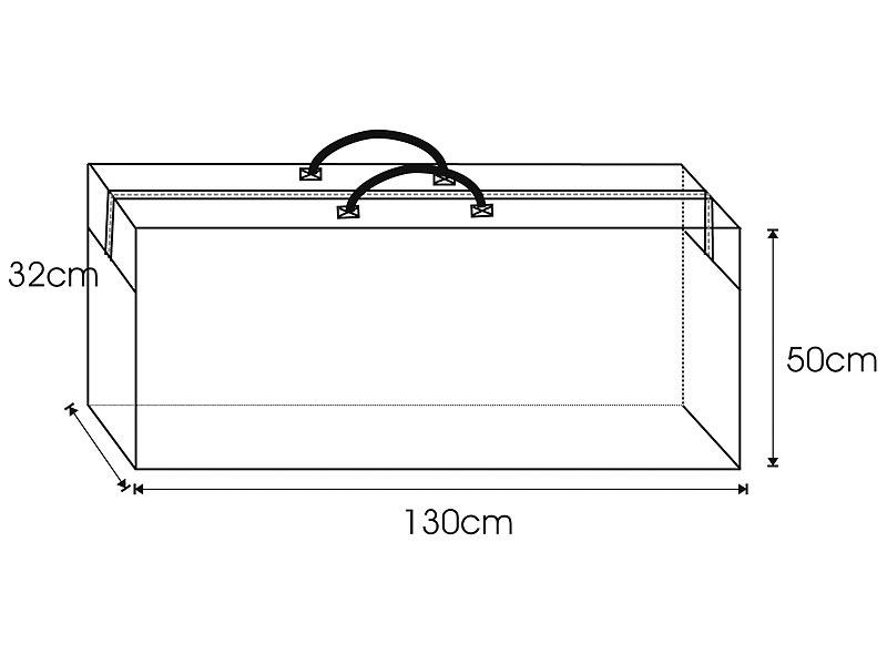 Royal Gardineer Tasche aus Gewebeplane für GartenmöbelSitzkissen