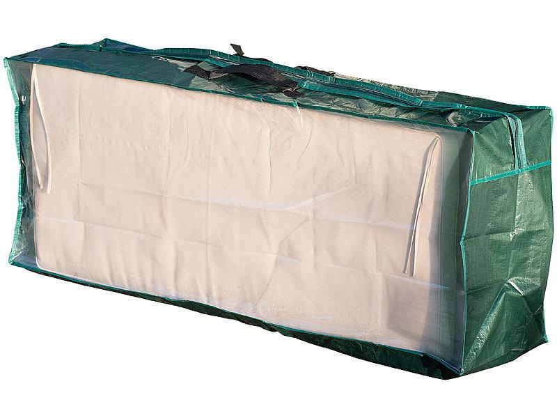 royal gardineer kissenbox tasche aus gewebeplane f r gartenm bel sitzkissen 130 x 50 x 32 cm. Black Bedroom Furniture Sets. Home Design Ideas