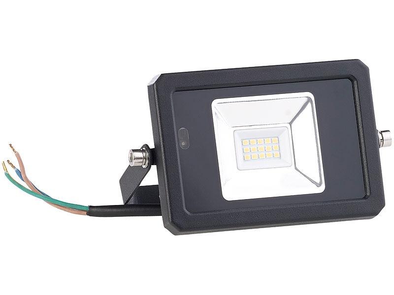 luminea strahler wetterfester led fluter radar bewegungssensor fernbedienung 10 w strahler. Black Bedroom Furniture Sets. Home Design Ideas