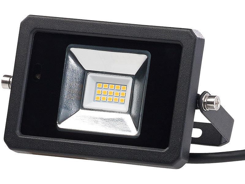luminea strahler wetterfester led fluter radar. Black Bedroom Furniture Sets. Home Design Ideas