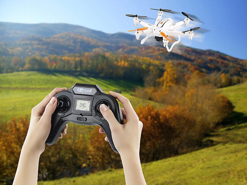 Kompakter Profi-Hexacopter GH-6.cam mit 720p-HD-Kamera