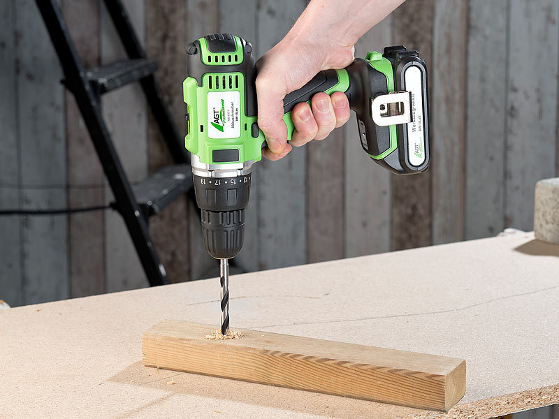 AGT Bitbohrer: Holz Bohrer Set für Akkuschrauber, 3 8 mm
