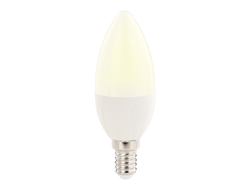 luminea led kerzen e14 a 6 watt 480 lumen warmwei 270 b35 10er set. Black Bedroom Furniture Sets. Home Design Ideas