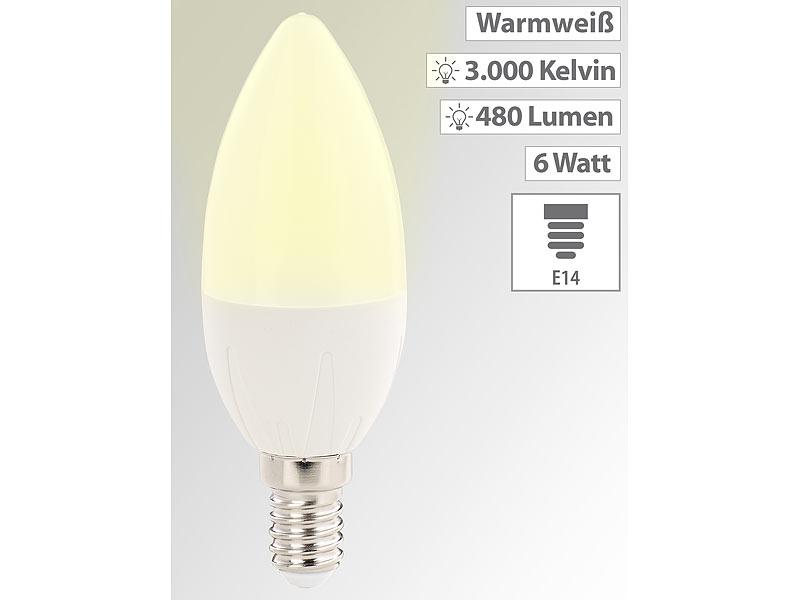 Luminea E14 Led Kerzenlampen Led Kerze E14 A 6 Watt 480 Lumen