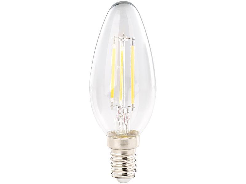 luminea 4er set led filament kerzen e14 a 4watt 470 lumen 360 warmwei. Black Bedroom Furniture Sets. Home Design Ideas