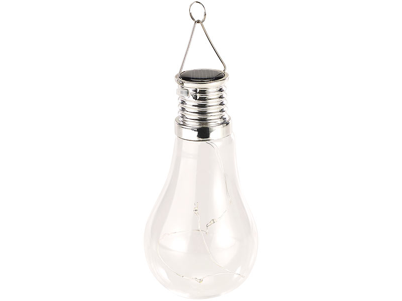 lunartec solar led lampe in gl hbirnen form 3 warmwei e. Black Bedroom Furniture Sets. Home Design Ideas