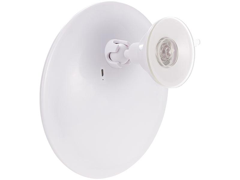 sichler beauty schminkspiegel saugnapf kosmetikspiegel mit led licht und akku 5 fache. Black Bedroom Furniture Sets. Home Design Ideas