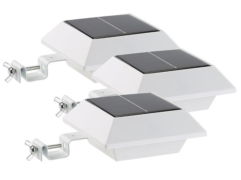 lunartec solar led leuchten solar led dachrinnenleuchte. Black Bedroom Furniture Sets. Home Design Ideas
