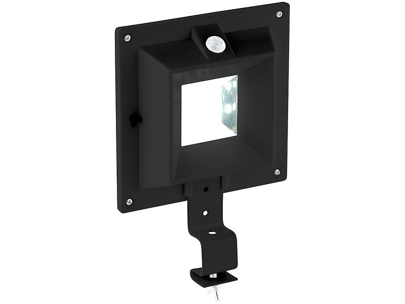 lunartec dachrinnenbeleuchtung solar led dachrinnenleuchte mit pir sensor 160 lm 2 w ip44. Black Bedroom Furniture Sets. Home Design Ideas