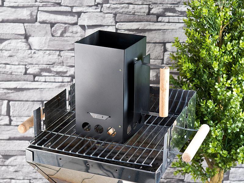 infactory kohleanz nder grill anz ndkamin f r kohle und briketts schwarz kohlenanz nder. Black Bedroom Furniture Sets. Home Design Ideas