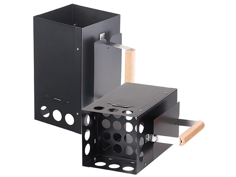 infactory kohleanz nder grill anz ndkamin f r kohle und briketts schwarz anz ndhilfe. Black Bedroom Furniture Sets. Home Design Ideas