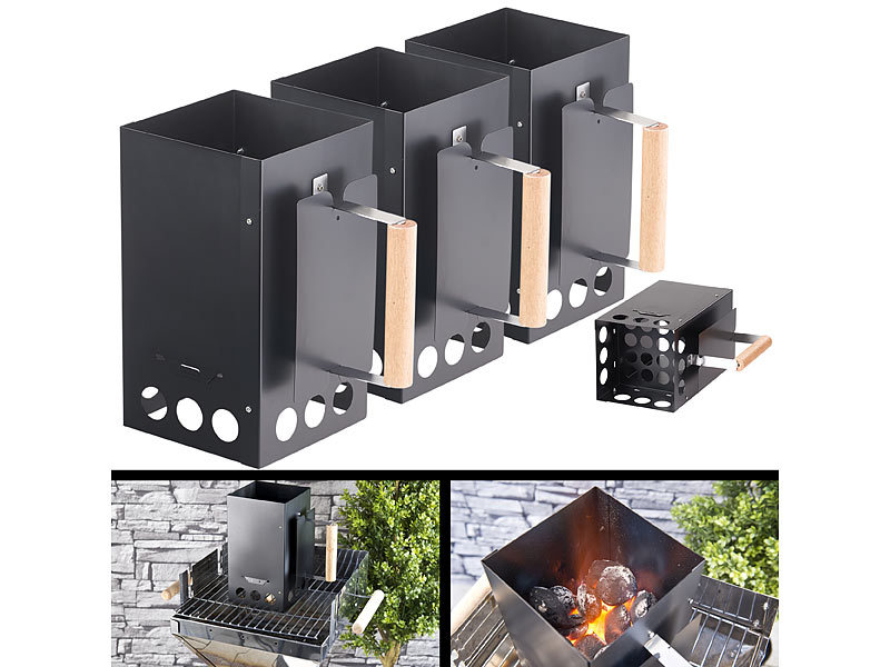 infactory grill anz ndkamin f r kohle und briketts schwarz. Black Bedroom Furniture Sets. Home Design Ideas