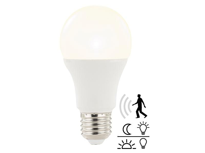 Luminea LED Leuchtmittel: LED-Lampe mit Radar-Bewegungs- und ...