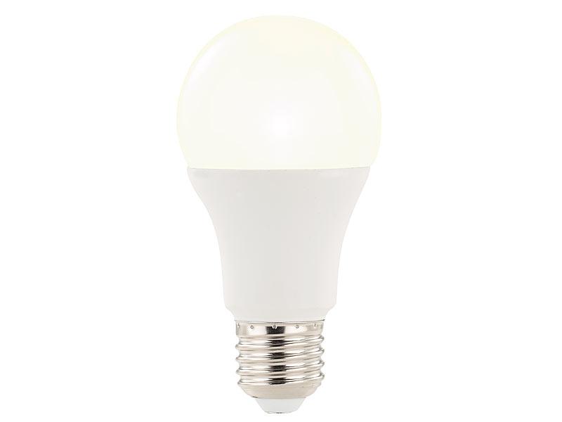 luminea led mit bewegungsmelder led lampe mit radar bewegungssensor 12 w e27 warmwei 3000. Black Bedroom Furniture Sets. Home Design Ideas
