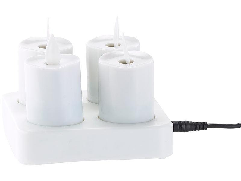 lunartec led akku teelichter mit beweglicher flamme. Black Bedroom Furniture Sets. Home Design Ideas