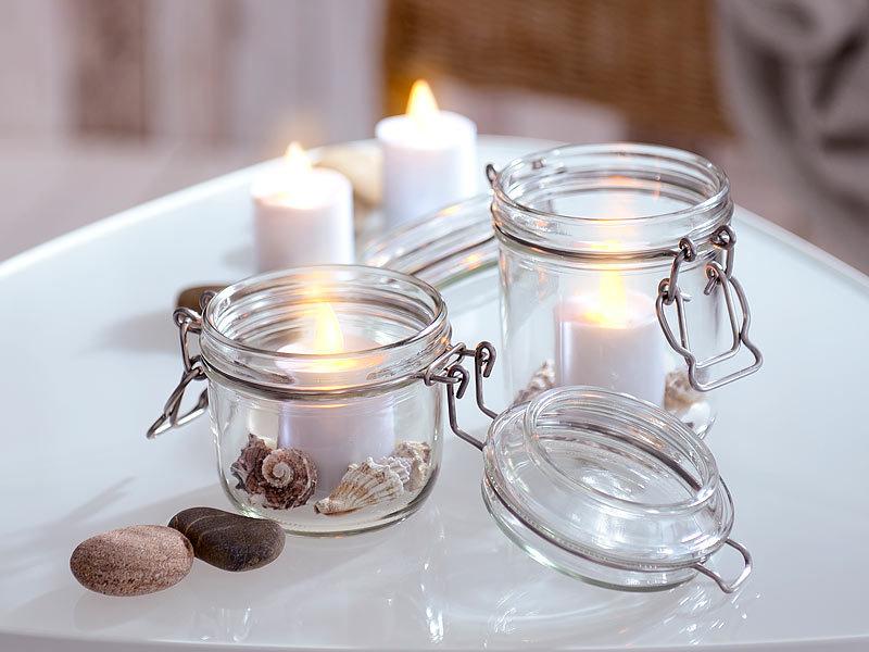 lunartec led akku teelichter mit beweglicher flamme ladestation fernbedienung. Black Bedroom Furniture Sets. Home Design Ideas