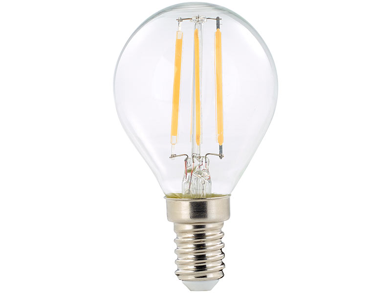 Luminea led lampe e warmlicht led filament tropfen g e