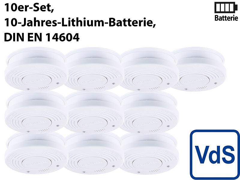 pearl fotoelektrischer rauchwarnmelder vds zertifiziert 10er set. Black Bedroom Furniture Sets. Home Design Ideas