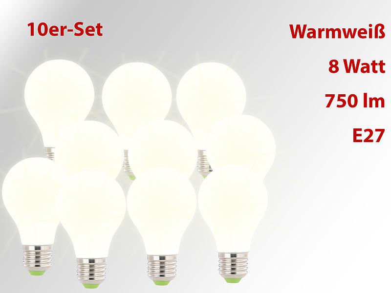 Lunartec Warmweisse E27 Led Birnen Smd Led Lampe E27 360 8 Watt