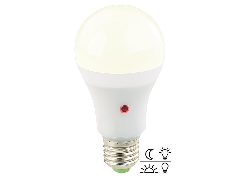 Gut gemocht Luminea LED Dämmerungsschalter: LED-Lampe mit Dämmerungssensor VZ28