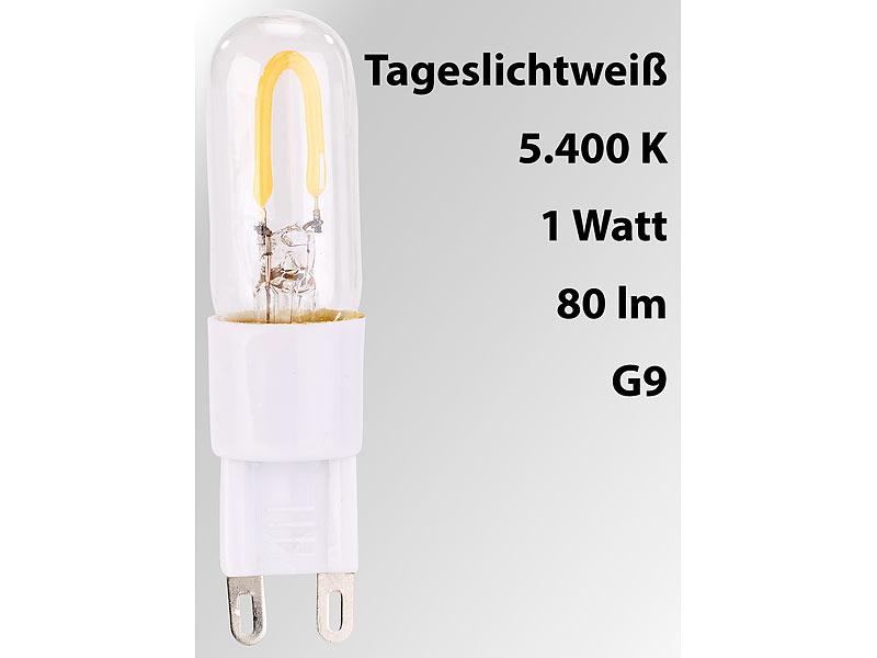 Luminea Stiftsockel Lampe G9 Led Filament Stiftsockellampe G9 1 W