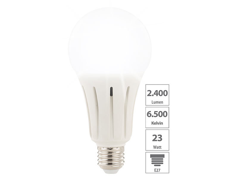 ... Luminea High Power LED Lampe E27, 24 Watt, 2.452 Lumen, ...