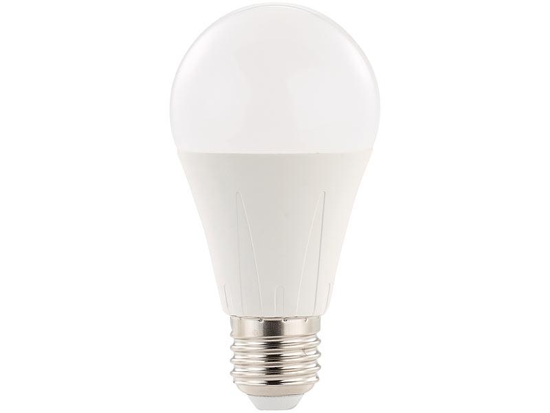 Luminea Lampe mit E27 Sockel: LED-Lampe E27, 10 Watt, 840 Lumen, A+ ...