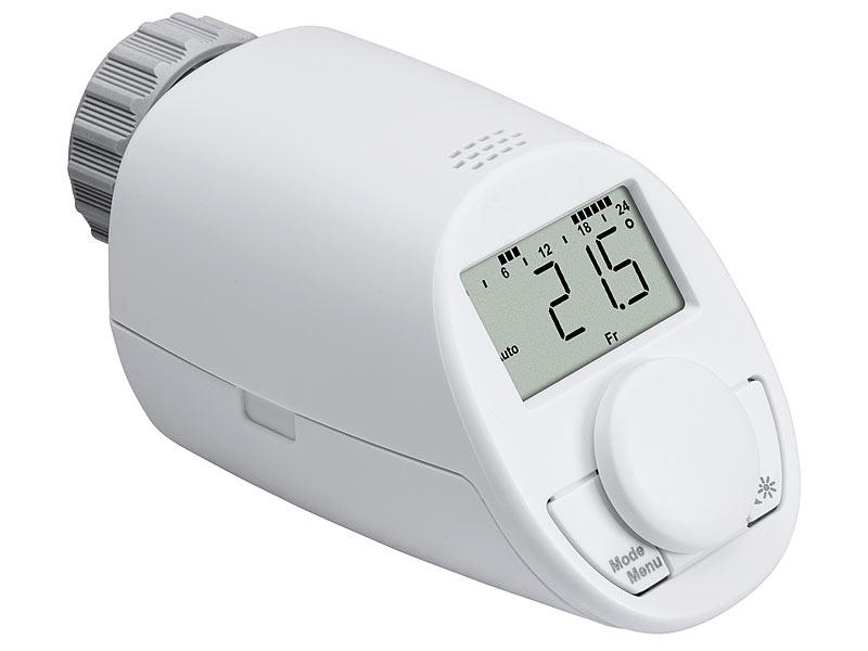 4er programmierbare Funk Heizungsregler Fernbedienung Heizkörperthermostat