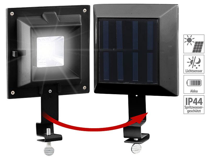 lunartec dachrinnenstrahler 3er set solar led dachrinnenleuchten 6 smd leds 20 lm ip44. Black Bedroom Furniture Sets. Home Design Ideas