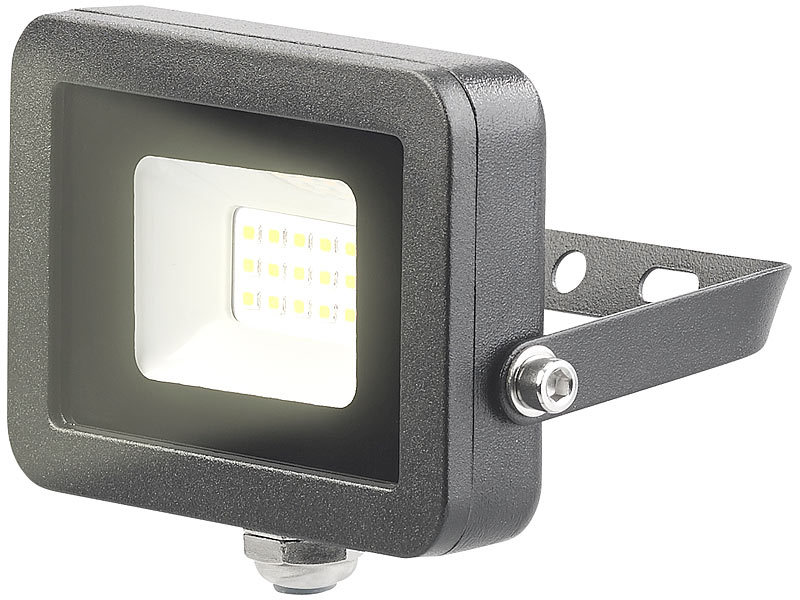 Wetterfester Mini-LED-Fluter, 10 W, 800 lm, IP65, 3.000 K, warmweiß