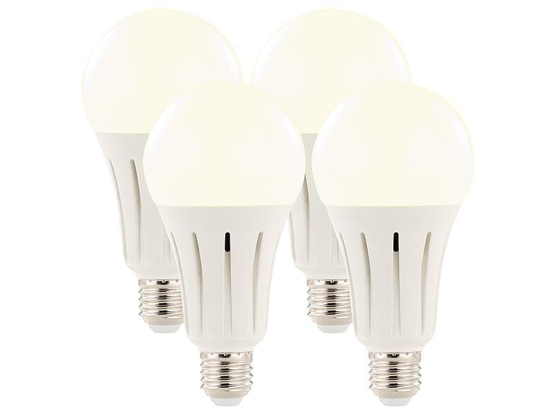 luminea high power led lampe e27 24 watt lumen 3000 k 4er set. Black Bedroom Furniture Sets. Home Design Ideas