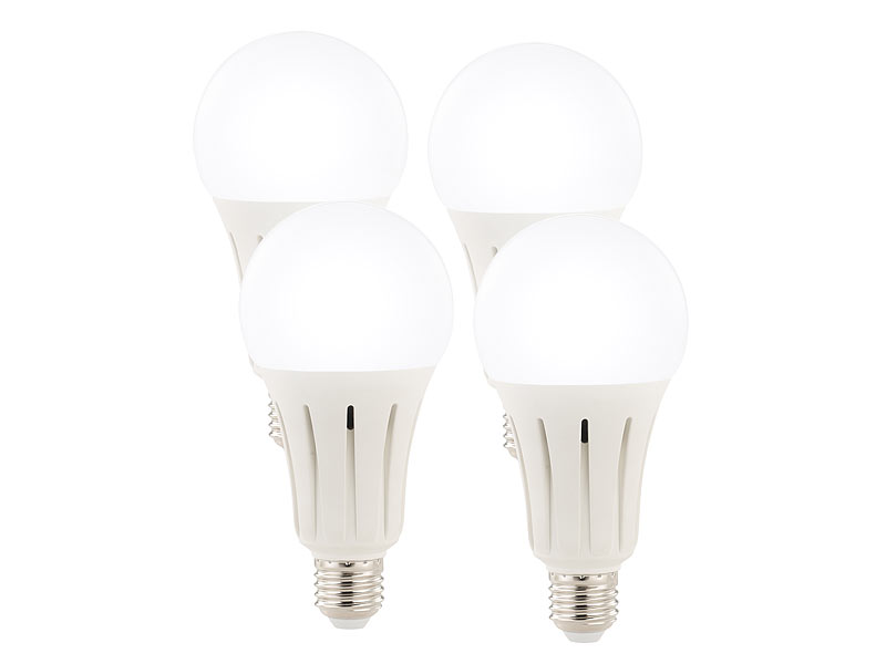 Luminea Tageslichtlampen: High-Power-LED-Lampe E27, 24 Watt, 2.452 ...