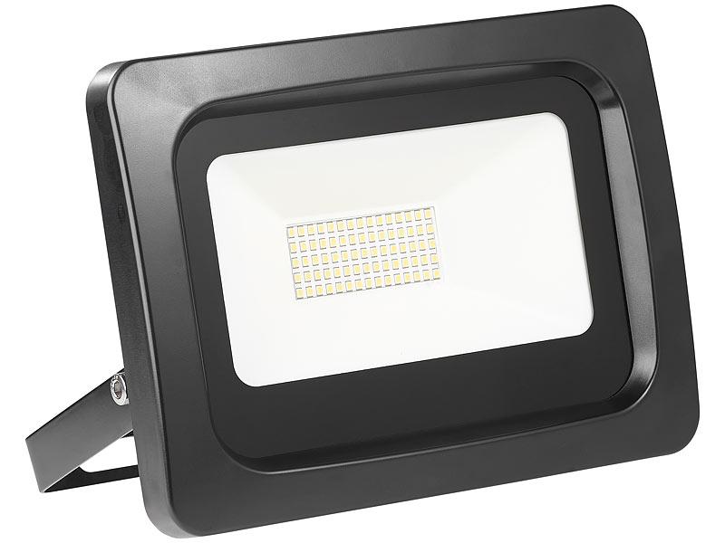 luminea wetterfeste led strahler wetterfester led fluter 100 watt lumen ip65 3000 k. Black Bedroom Furniture Sets. Home Design Ideas