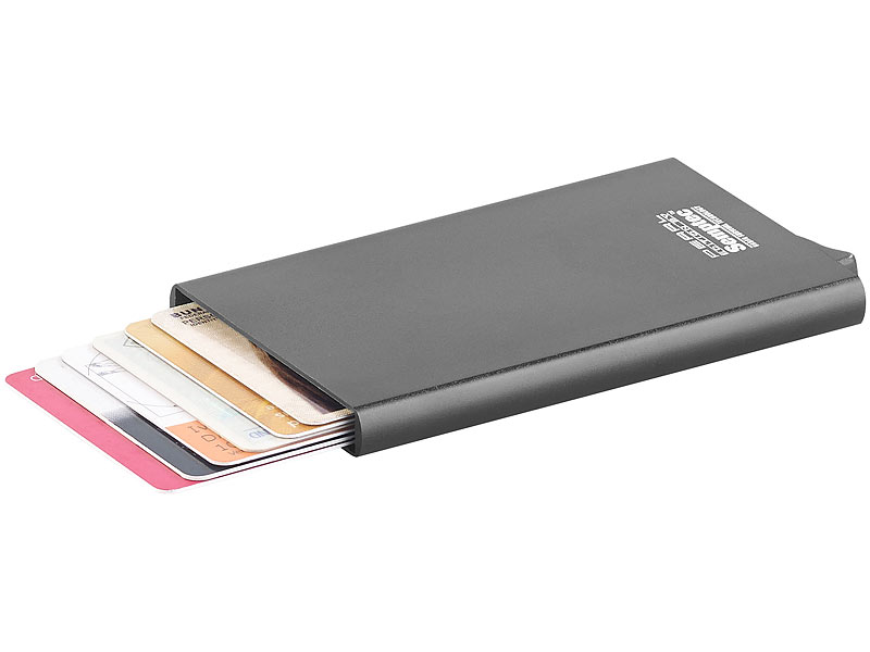semptec kreditkartenetui rfid kartenetui aluminium auswurf mechanismus f r ec karten u v m. Black Bedroom Furniture Sets. Home Design Ideas