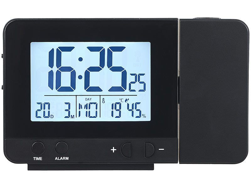 infactory projektions funkwecker thermo hygrometer 2. Black Bedroom Furniture Sets. Home Design Ideas