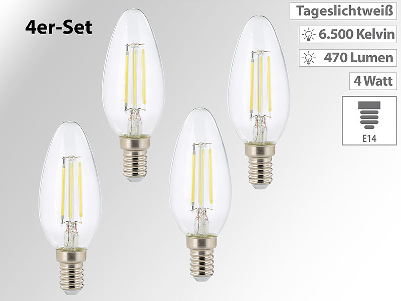 Led E14 Kerze Kronleuchter ~ E led fadenkerzen er set led filament kerzen b e