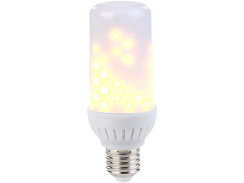luminea led flame 2er set led flammen lampen mit realistischem flackern e27 96 leds feuerlampe. Black Bedroom Furniture Sets. Home Design Ideas