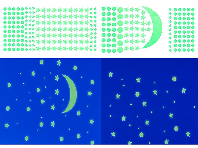 Infactory Leuchtsterne Phosphoreszierende Sternenhimmel