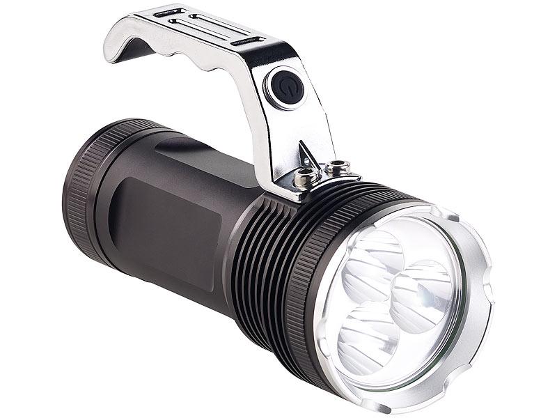 Kryolights taschenlampen: led handstrahler mit 3 cree leds & akku