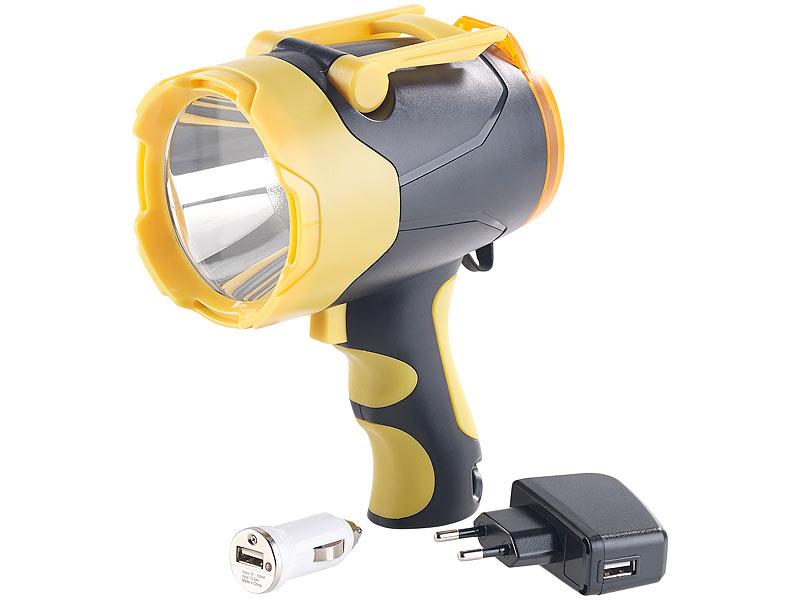 lunartec taschenlampe akku led handlampe 10 watt bis. Black Bedroom Furniture Sets. Home Design Ideas