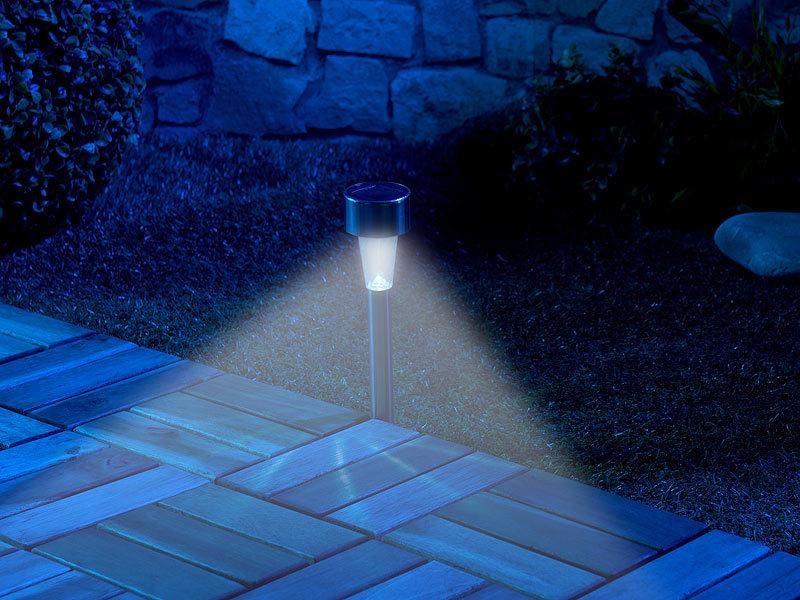 lunartec gartenleuchten 16er set mini solar led wegeleuchten mit d mmerungssensor ip44. Black Bedroom Furniture Sets. Home Design Ideas