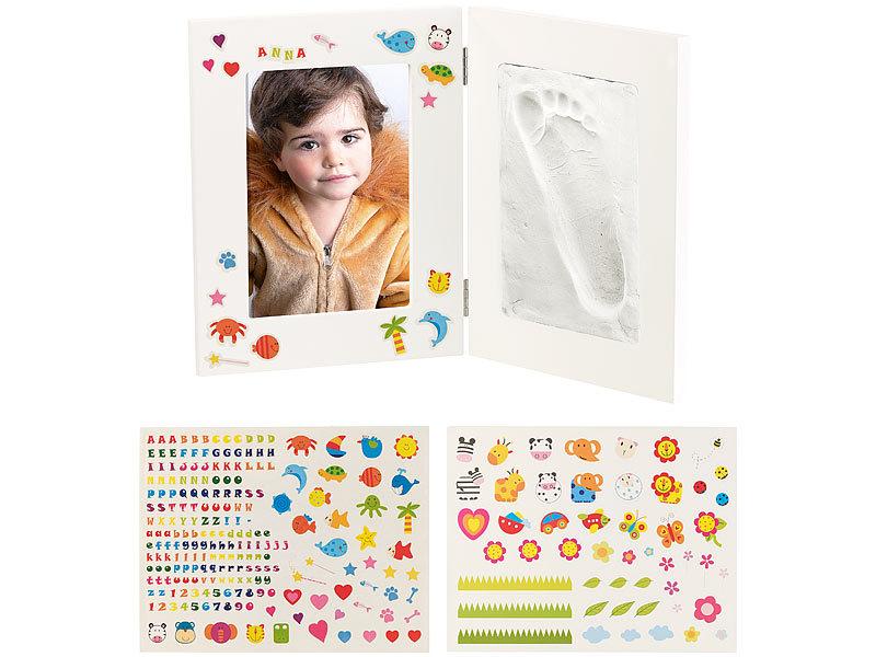 Your Design Fussabdruck-Bilderrahmen: 2-teiliger Rahmen für Babyfoto ...
