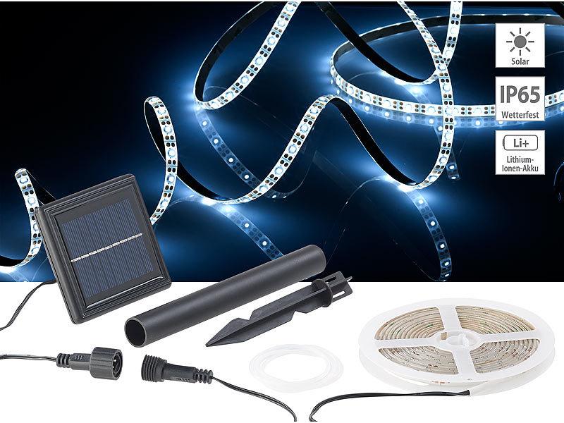 lunartec led stripes solar led streifen mit 180. Black Bedroom Furniture Sets. Home Design Ideas
