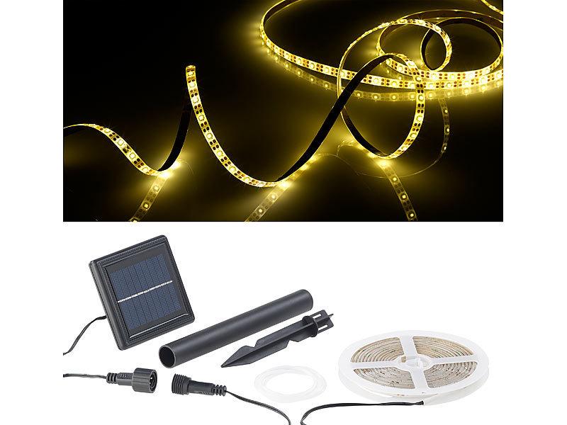 lunartec solar led band solar led streifen mit 180. Black Bedroom Furniture Sets. Home Design Ideas