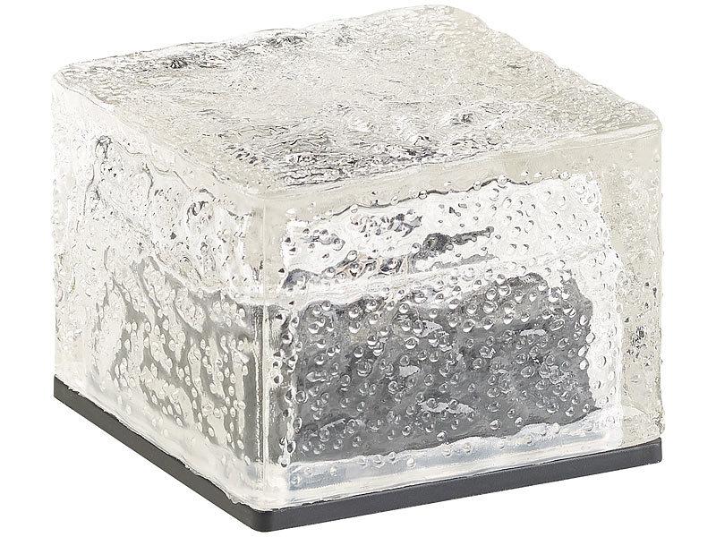 lunartec solar led bodenleuchte solar rgb led glasbaustein mit d mmerungsssensor 7 x 5 4 x 7. Black Bedroom Furniture Sets. Home Design Ideas