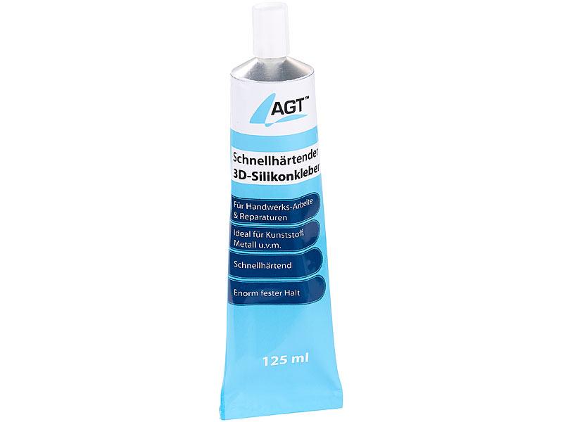 Hervorragend AGT Siliconkleber: Schnellhärtender 3D-Silikonkleber, transparent RC86