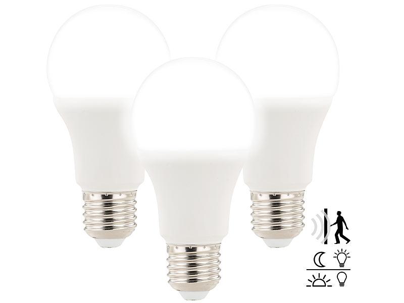 luminea e27 bewegungsmelder 3 led lampen mit radar bewegungs lichtsensor 12 w e27 tw. Black Bedroom Furniture Sets. Home Design Ideas